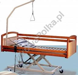 łóżko Rehabilitacyjne Elektryczne Barierki Drewniane I Wysięgnik